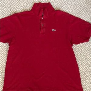 Lacoste men's red polo
